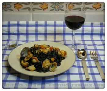 Pasta ~ Spaghetti nero ai frutti di mare